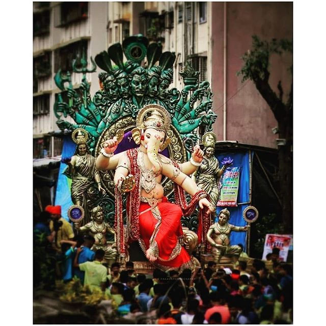 Chinchpokli Chintamani Angam Sohala Mumbai Full Public Come Bappa Fun Instagramers Food Chinchpokli Chintamani Angam S Ganpati Photo Hd Ganesh Idol Photo