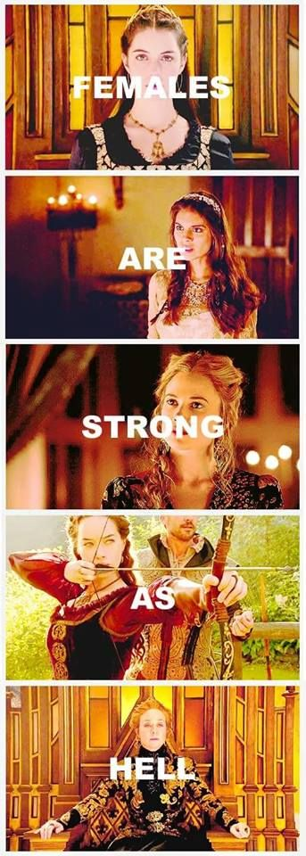 Reign <3 with some Unbreakable Kimmy Schmidt sprinkled in there