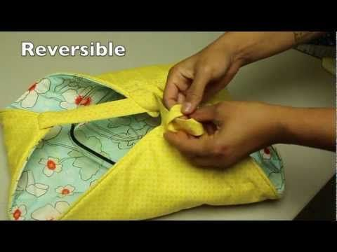 How to Make a Casserole or Pie dish Carrier - YouTube