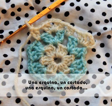 Cómo hacer un hexágono a crochet - Corriendo con tijeras