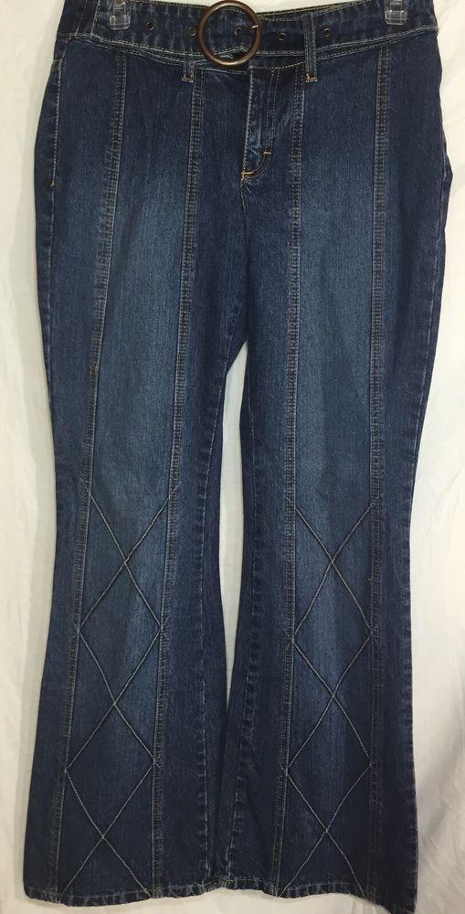 "Vintage retro bell bottom style! Jordache Jeans Lo Rise Bell Bottom Flare Light Distress Size 7 8 Inseam 32"" #Jordache #hipster #boho"