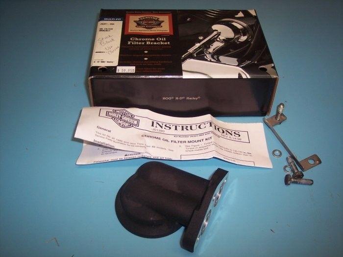 Harley Davidson Stock Oil Filter Bracket Kit Black Showroom Replaced Fits 99-06