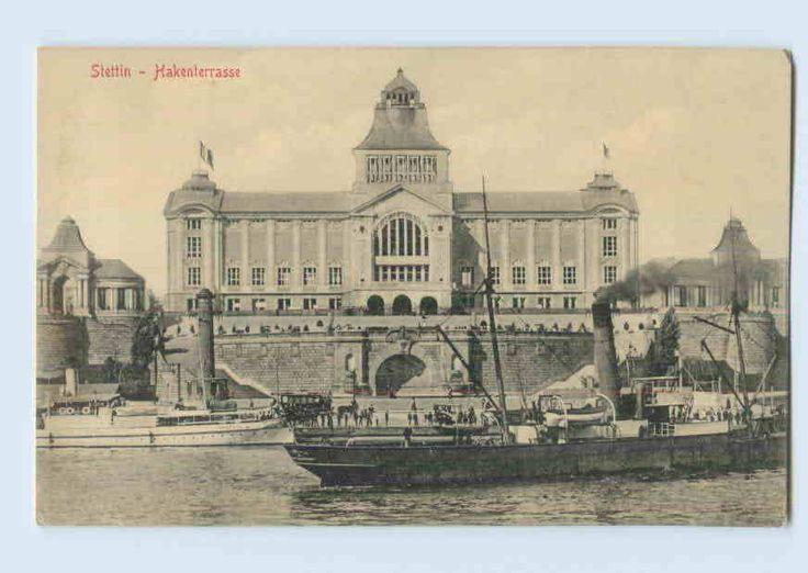 054/ Stettin Hakenterrasse Pommern - Schiff - AK 1913