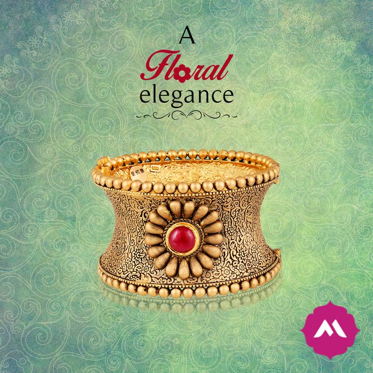 When you have to make a power statement, opt for this 22 kt-base single kada with a pristine ruby stone in the center.