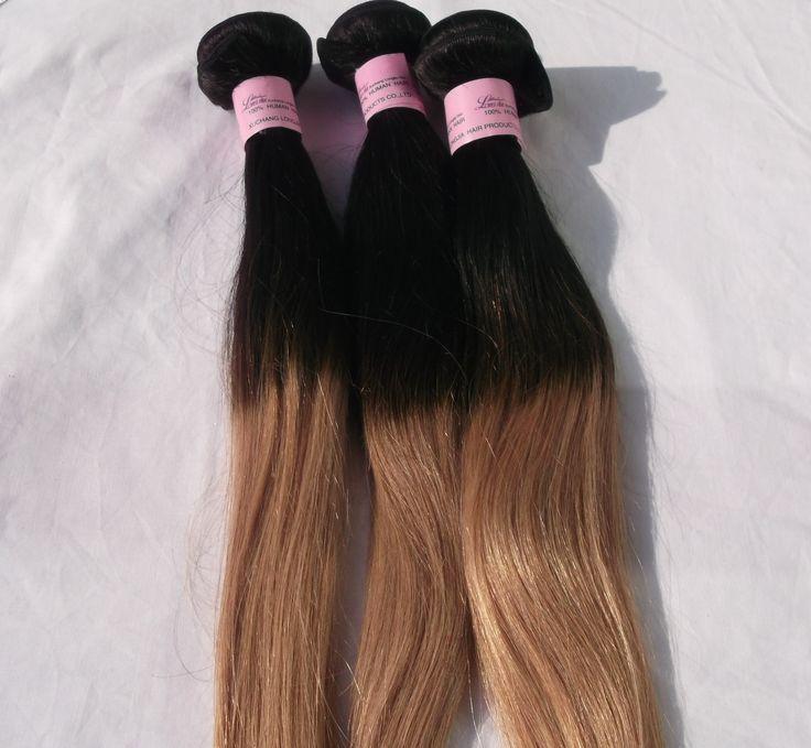 Ombre Brazilian Hair Weave Grade 6A - Straight- 16 16 18inch