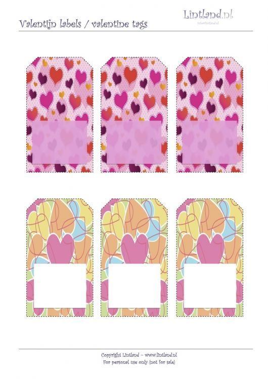 Labels / Tags - Lintland | Valentijn labels, gratis afdrukken, | Valentine tags, free printable - freebies