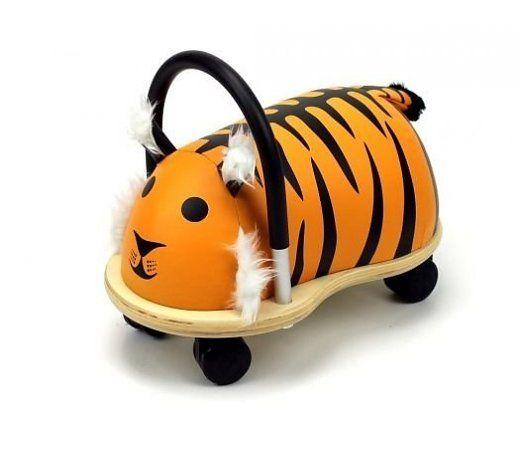 Wheelybug tijger groot, verover het huis op deze sterke tijger zijn rug! Geschikt voor kinderen tussen de 2,5 en 5 jaar.  http://www.planethappy.nl/wheelybug-tijger-groot.html