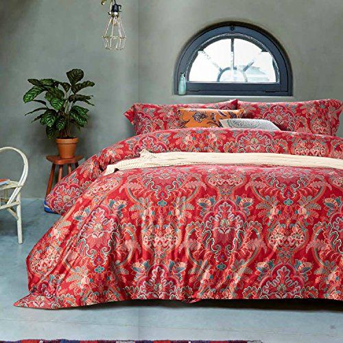 ufo home 350 thread count 100 cotton sateen digital printing paisley patterns 4pc duvet cover