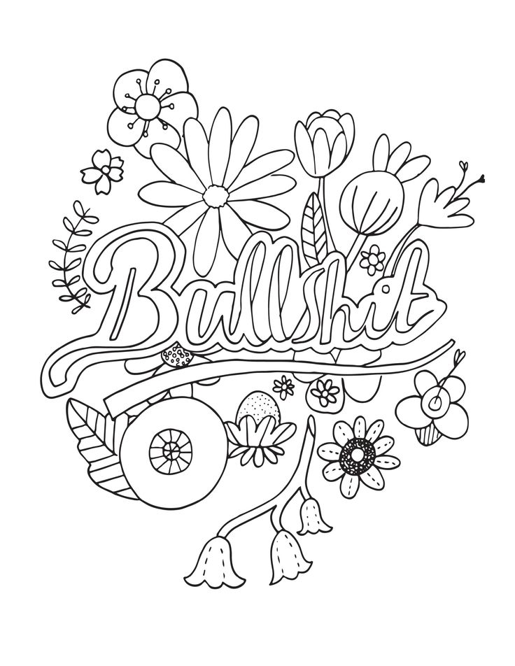 adult coloring pages curse words  adult coloring pages