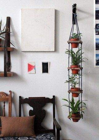 a narrow hanging shelf
