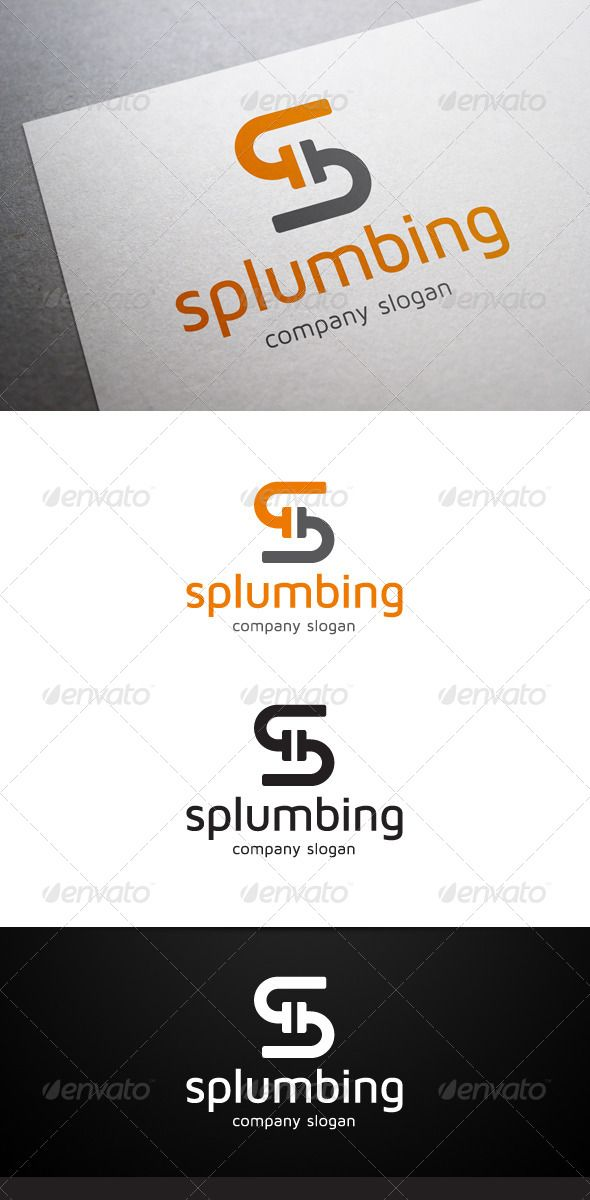Splumbing S Letter Logo Design Template