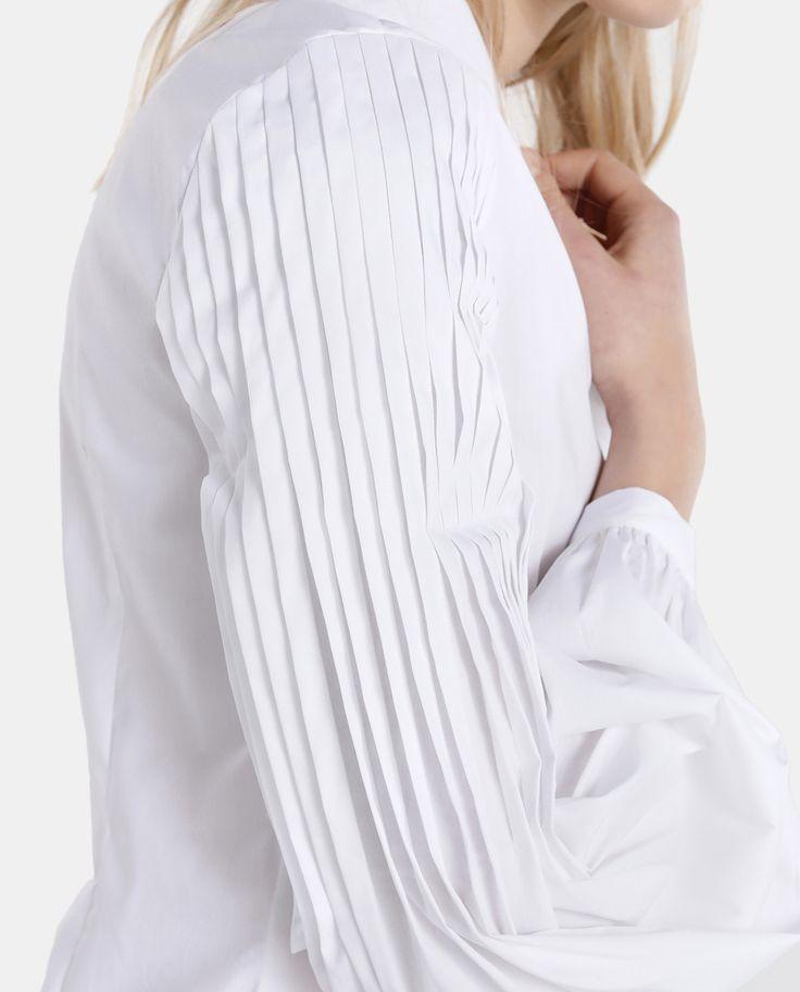 Blusa de mujer Tintoretto blanca con jaretas · Tintoretto · Moda · El Corte Inglés