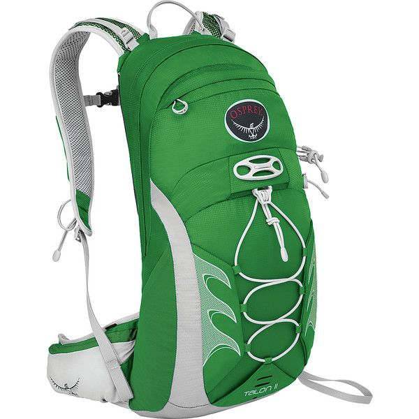 Osprey Talon 11 - Shamrock Green (S/M) - Hiking Backpacks ($67) ❤ liked on Polyvore featuring bags, backpacks, green, zip bag, osprey backpacks, woven bag, daypack bag and day pack backpack