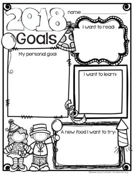 New Year's Goals Freebie
