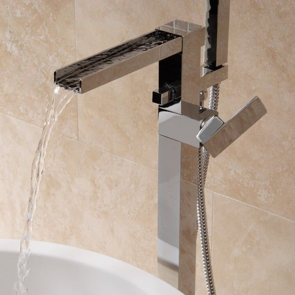 The Sanctuary Freestanding Bath Shower Mixer Is A State Of Art Design Waterfall Tap Manufactured From Solid Brass With Chrome Finish