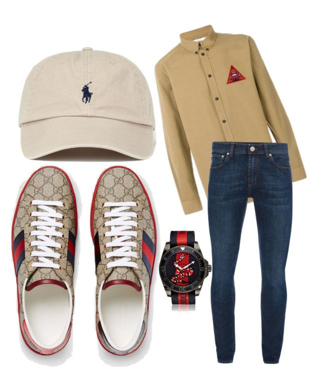 """""""Gucci goat"""" by tymarahshand on Polyvore featuring Gucci, Givenchy, Alexander McQueen, men's fashion and menswear"""