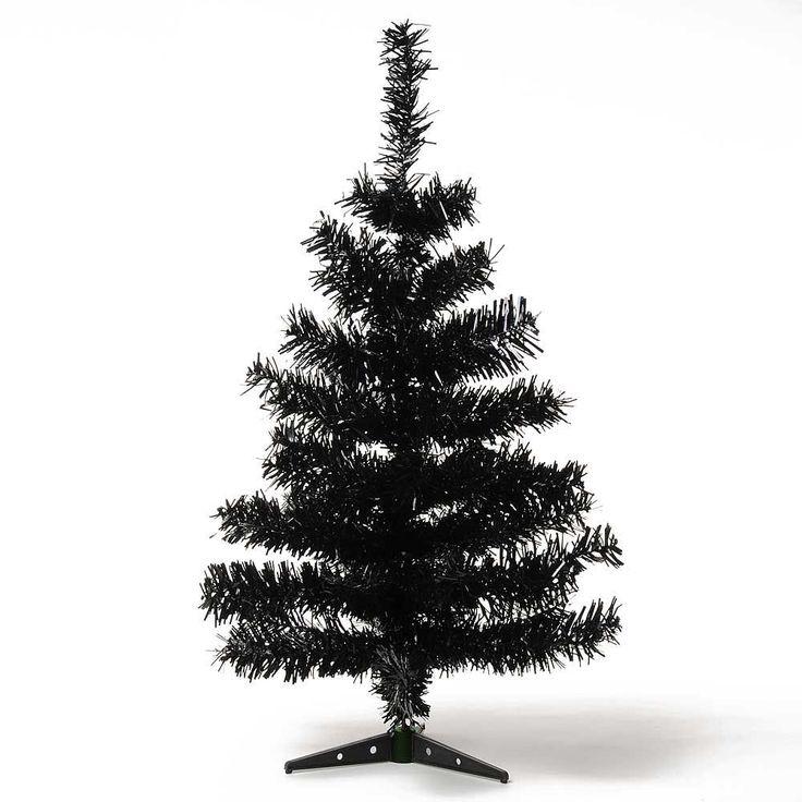 Elegant HAB u GUT K nstlicher Weihnachtsbaum SCHWARZ black ca cm Christbaum Tannenbaum