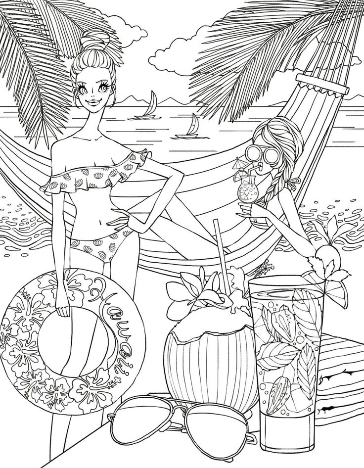 535 best Beach coloring pages images on Pinterest Coloring books
