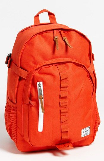 Parkgate Backpack / Herschel Supply Co.  I love orange.  I would love to have this backpack!