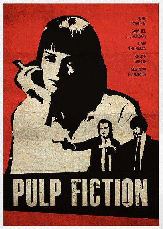 Pulp Fiction - An alternative movie poster #GangsterMovie #GangsterFlick