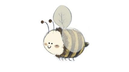 ilustracion de abeja para niños animacion