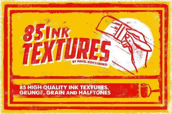85 Ink Textures by Vintage Voyage Design Co. on @creativemarket