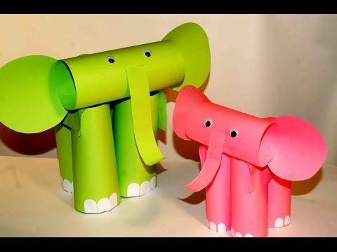 Paper craft for kids. Paper elephants. Easy paper crafts. - YouTube