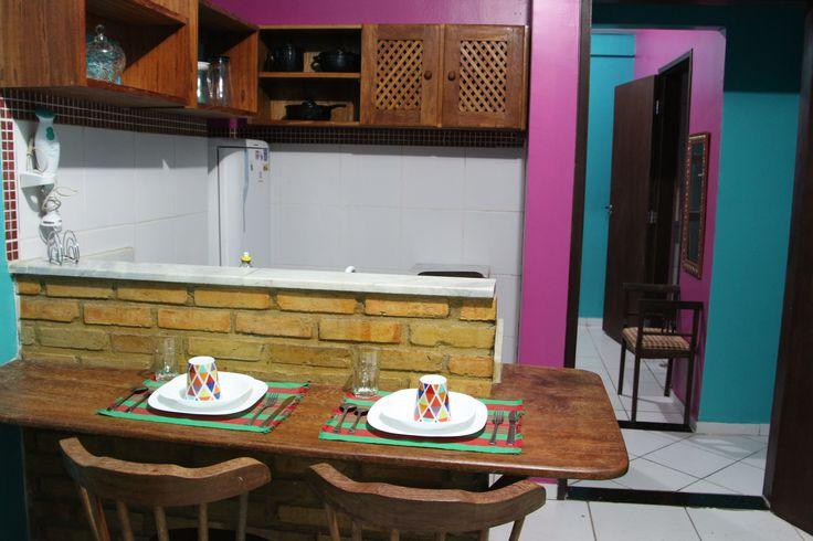 Apartamento Conforto sala e cozinha