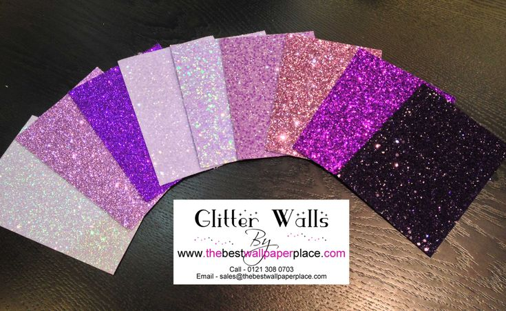 Shades of Purple #Glitterwallpaper from the best wallpaper place. There are over 40 colours in the Glitter collection and 2 fabulous styles.