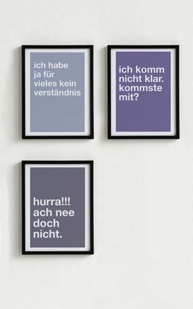 Digitaldruck - Mini-Poster-Set. 3 Poster Typo nach Wahl - ein Designerstück von Pap-Seligkeiten bei DaWanda