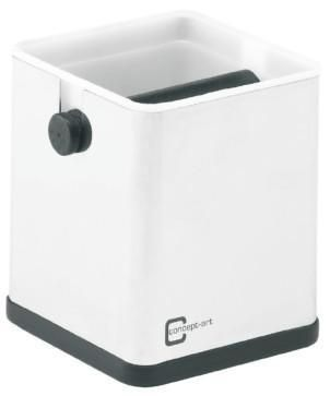 For the fast and easy disposal of coffee grounds, the Knockbox is an useful and practical accessory for the barista. In order to allow for an easy handling and cleaning, we use a plastic insert cartridge made of PVC material. The insert cartridge is heat-resistant, can also be cleaned in a dishwasher, and is very easy to dismantle.