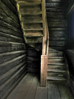 This would be a nice space saving stair case (instead of a ladder) to the loft.