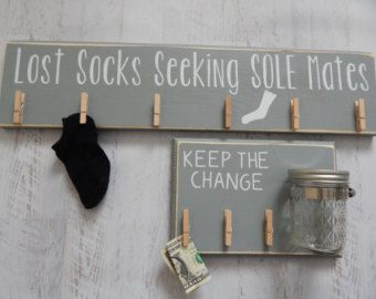 LARGE Laundry Room Decor....In Gray...Loose by HavensPlace on Etsy