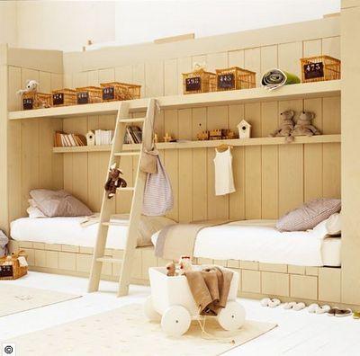Idée originale pour la chambre des enfants ! http://www.m-habitat.fr/par-pieces/chambre/amenager-une-chambre-pour-enfant-2624_A
