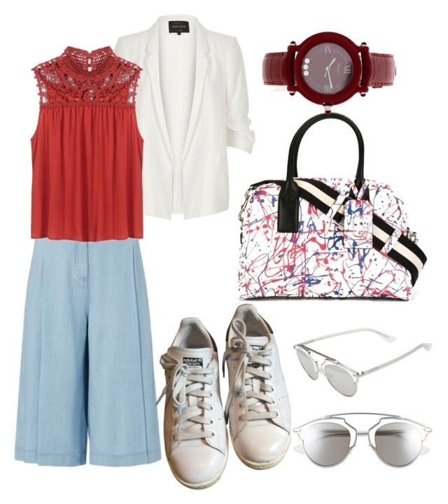"""Untitled #104"" by nenglita on Polyvore featuring Diane Von Furstenberg, River Island, adidas, Marc Jacobs, Christian Dior and Chopard"