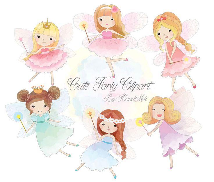 Cute Fariy Clipart, Fairy clipart PNG file-300 dpi. by HandMek on Etsy https://www.etsy.com/listing/247415299/cute-fariy-clipart-fairy-clipart-png