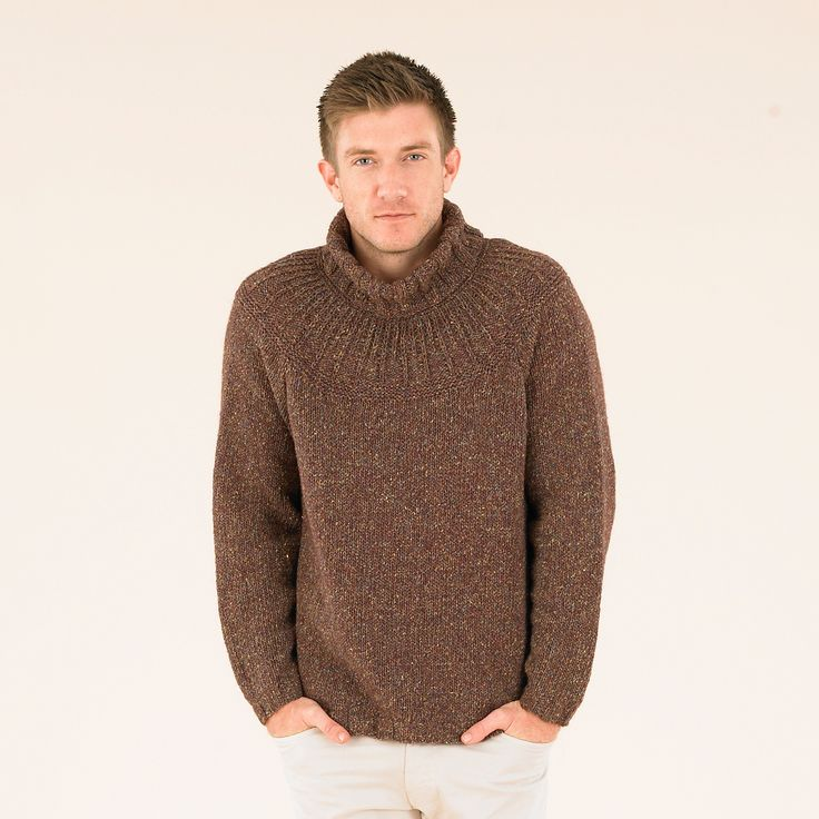 The Campfire Sweater knitted in Sublime Luxurious Aran Tweed. 15% off all yarn and books..