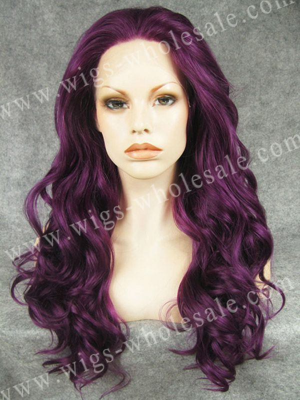 Fashionable Heat Resistant Wig Drag Queen Wig Long Synthetic Lace Front Wavy Wig