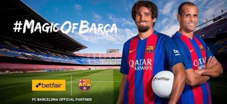 Футболисты Барселоны и компания Betfair выпустили совместный рекламный ролик http://ratingbet.com/news/3367-futbolisty-barsyelony-i-kompaniya-betfair-vypustili-sovmyestnyy-ryeklamnyy-rolik.html   Биржа ставок Betfair объявила о старте рекламной акции #MagicOfBarca. К этому событию британская компания Betfair приурочила выпуск рекламного ролика, в котором приняли участие игроки каталонской Барселоны.