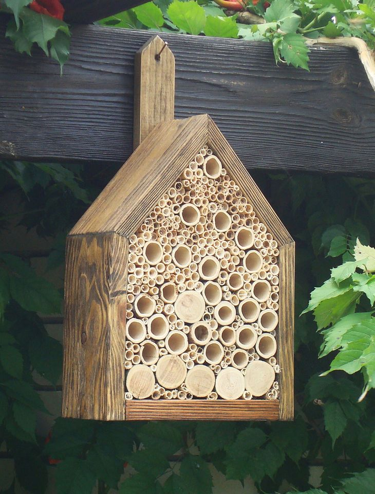 Insect hotel,  insect house, insect hotel for butterflies,decor for the garden
