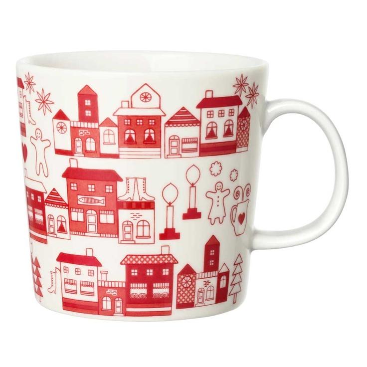 Christmas village mug - Arabia
