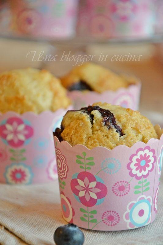 Muffin al farro con mirtilli