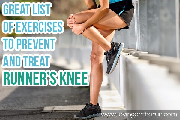 Exercises and stretches to help prevent and treat runners knee. These are helpful to have on hand for any runner!