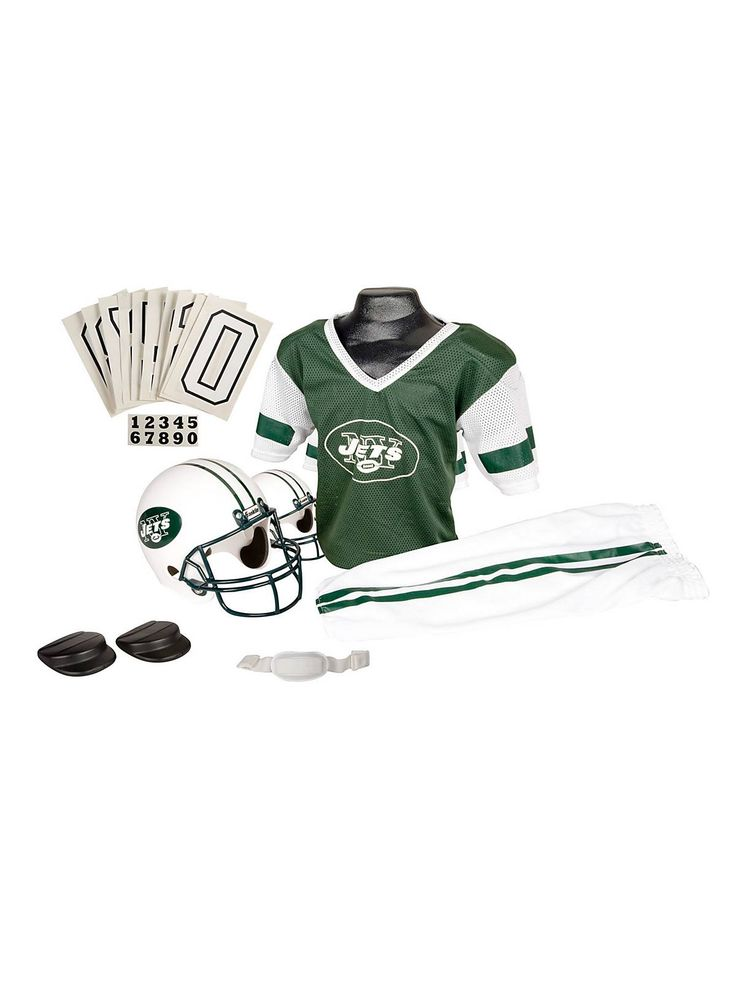 Childs NFL Jets Helmet and Uniform Set! See more #costume accessories at CostumeSuperCenter.com