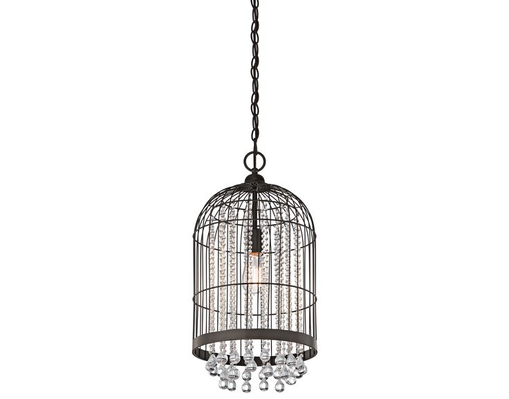This kichler 1 light chandelier foyer cage will make a strong impact in your home featuring a refined olde bronze finish and beautiful clear glass bead