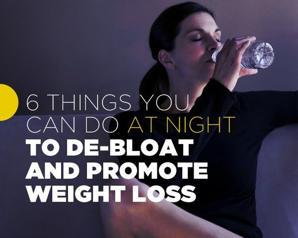 6 Things You Can Do At Night to De-Bloat And Promote Weight Loss   Women's Health Magazine