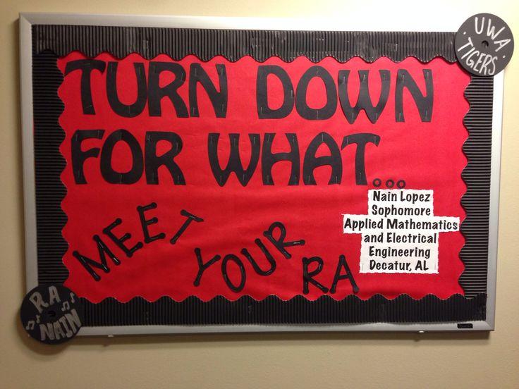 Ra Bulletin Board Welcome Meet Your Ra Studentlife Ra