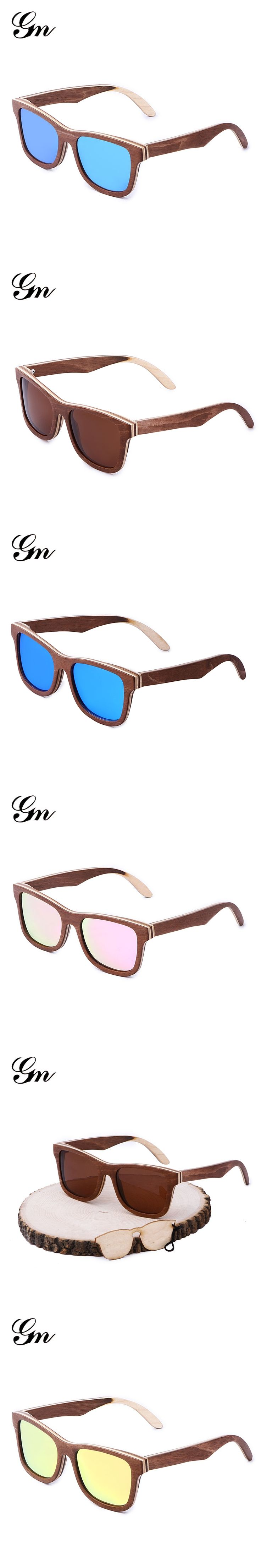 2018 G M factory direct sale, amazon sells hot skateboard wooden sunglasses can customize the LOGO, bamboo and wooden sunglasses