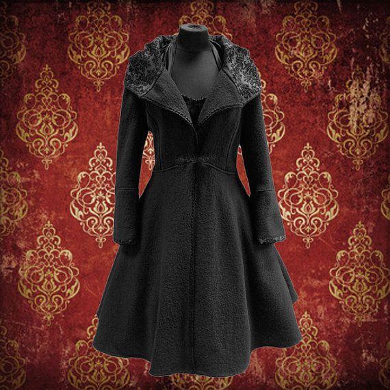 Winter Mantel wolle 50er Jahre Stil VintageLook in von