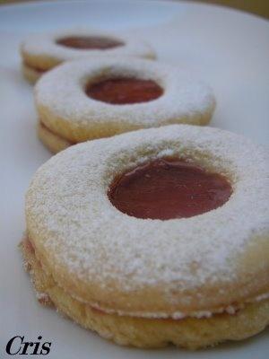 Las comiditas de Cris: Galletas con mermelada de fresa.